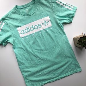Adidas Logo Tee• Men's Small/Women's Medium